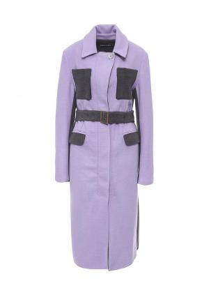 Пальто Love & Light. Цвет: фиолетовый