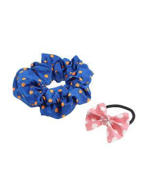 Комплект резинок для волос Gusachi. Цвет: синий, оранжевый