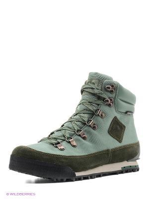 Ботинки The North Face. Цвет: зеленый, серый