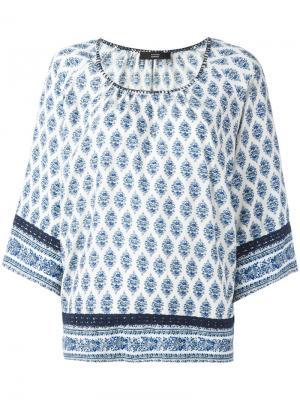 Блузка с принтом Steffen Schraut. Цвет: синий