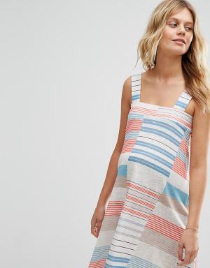 ASOS Maternity Платье мини для беременных с полосками. Цвет: мульти