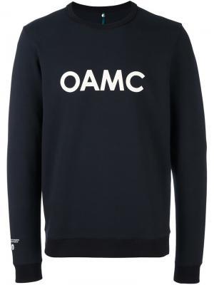 Толстовка с принтом логотипа Oamc. Цвет: синий