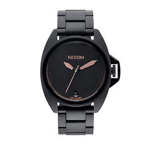 Часы  Anthem All Black/Rose Gold Nixon. Цвет: черный