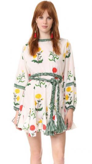 Платье с принтом Ella Rhode Resort. Цвет: цветочный мульти