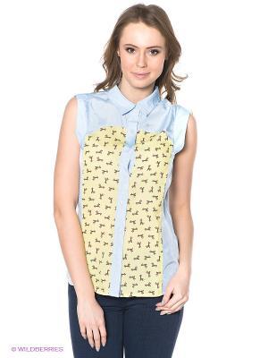 Блузка Neohit. Цвет: голубой, желтый