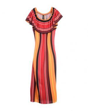 Длинное платье NORA BARTH. Цвет: кирпично-красный