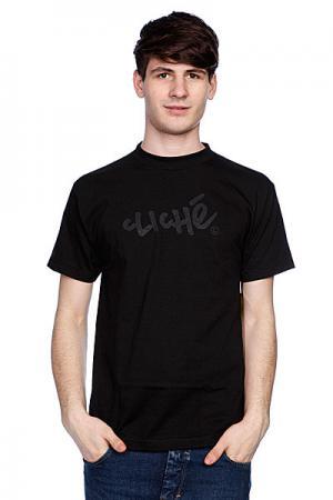 Футболка  Handwritten Classic Black/Black Cliche. Цвет: черный