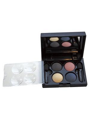 Тени для век КватроQuattro Eyeshadow Mat 632, 2,4г NOUBA. Цвет: черный, синий, бежевый, розовый