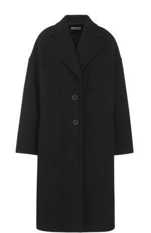 Шерстяное пальто свободного кроя Dries Van Noten. Цвет: черный