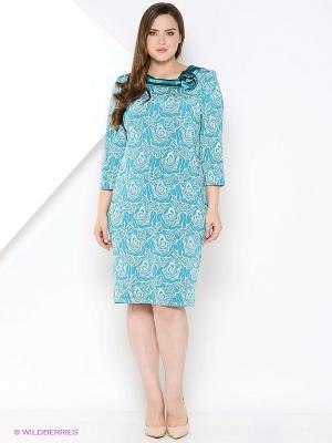 Платье BALSAKO. Цвет: бирюзовый