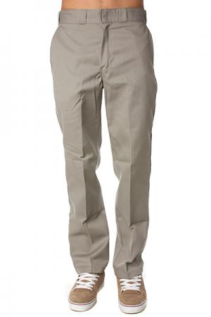 Штаны прямые  Original 874 Work Pant Sv Silver Grey Dickies. Цвет: бежевый