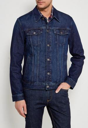 Куртка джинсовая Banana Republic. Цвет: синий