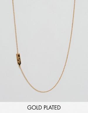 Gorjana Ожерелье со знаком зодиака Лев. Цвет: золотой