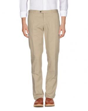 Повседневные брюки EZE. Цвет: бежевый