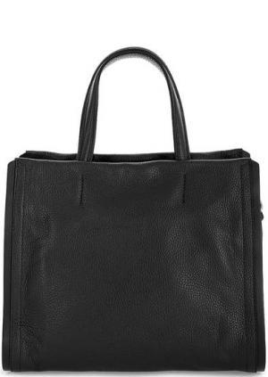 Черная кожаная сумка с короткими ручками Gianni Chiarini. Цвет: черный