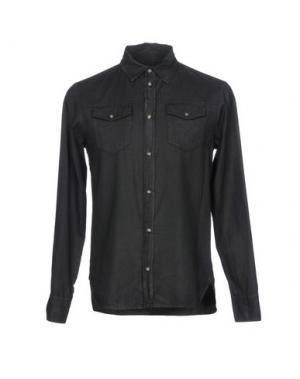 Джинсовая рубашка FRANKIE MORELLO. Цвет: черный