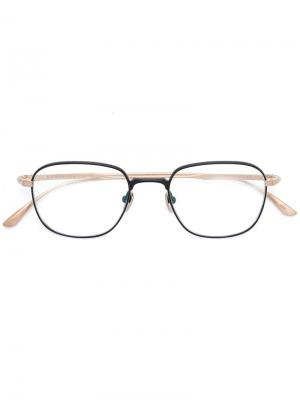 Square frame glasses Masunaga. Цвет: чёрный