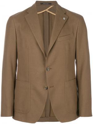 Классический пиджак Tagliatore. Цвет: коричневый