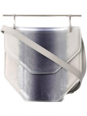 Сумка на плечо с металлической ручкой M2malletier. Цвет: серый