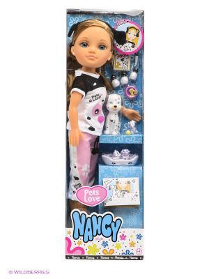 Набор Кукла Нэнси и далматинцы Famosa. Цвет: белый, черный, розовый