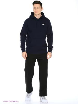 Худи M NSW HOODIE PO FLC CLUB Nike. Цвет: темно-синий