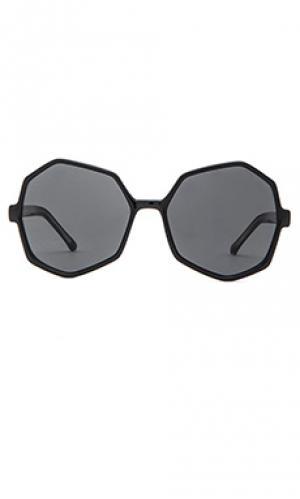 Солнцезащитные очки bonnie Komono. Цвет: черный