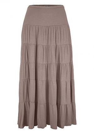 Длинная пляжная юбка BEACHTIME. Цвет: тростниковый