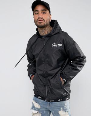 Sixth June Спортивная черная куртка с капюшоном. Цвет: черный