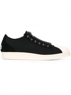 Классические кроссовки на шнуровке Y-3. Цвет: чёрный