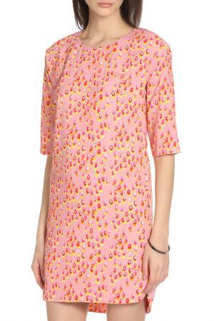 Платье свободного силуэта в стиле  None Whos Who Who's. Цвет: розовый, принт