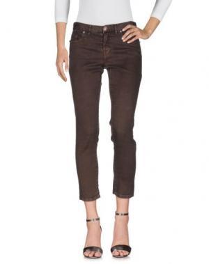 Джинсовые брюки MALÌPARMI. Цвет: темно-коричневый