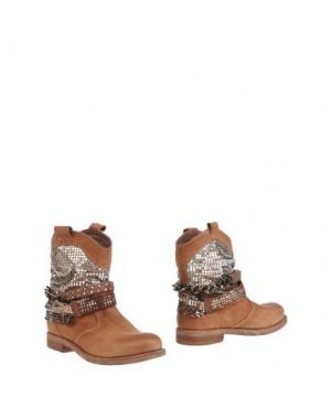 Полусапоги и высокие ботинки FABBRICA MORICHETTI. Цвет: коричневый