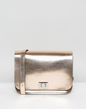 Leather Satchel Company Сумка через плечо Pixie. Цвет: розовый