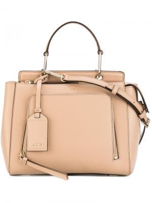 Маленькая сумка-тоут Donna Karan. Цвет: телесный