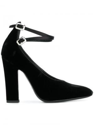 Туфли-лодочки с ремешком на щиколотке Deimille. Цвет: чёрный