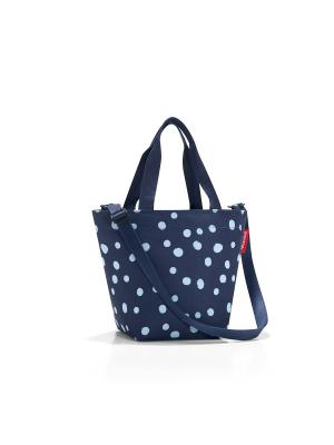 Сумка Shopper XS spots navy Reisenthel. Цвет: синий