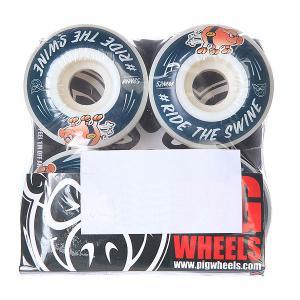 Колеса для скейтборда  #ride Blue 101A 52 mm Pig. Цвет: белый,синий