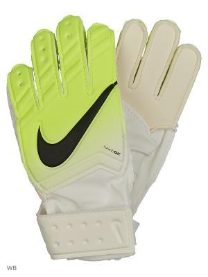 Перчатки NIKE GK JR MATCH FA16. Цвет: белый