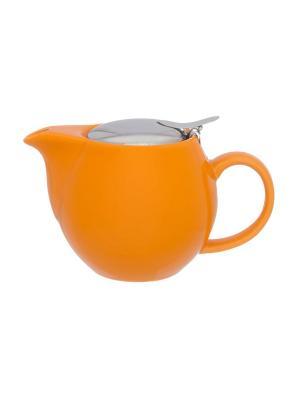Чайник Оранжевый Elan Gallery. Цвет: оранжевый