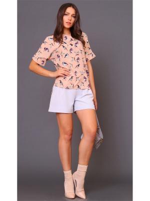 Блузка MARI VERA. Цвет: бледно-розовый