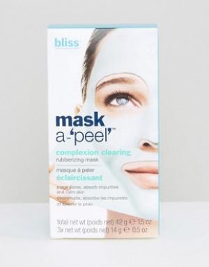 Bliss Очищающая маска для цвета лица 3 x 14 г Mask a-Peel. Цвет: бесцветный