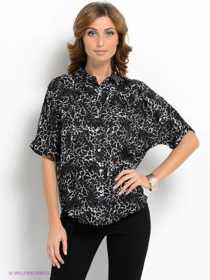 Блузка Vis-a-vis. Цвет: черный, белый