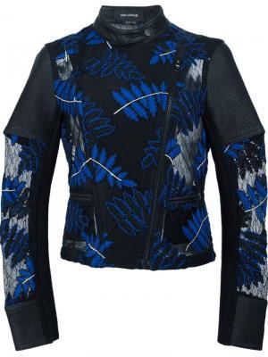 Байкерская куртка с вышивкой Yigal Azrouel. Цвет: чёрный