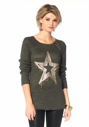 Пуловер Laura Scott. Цвет: хаки