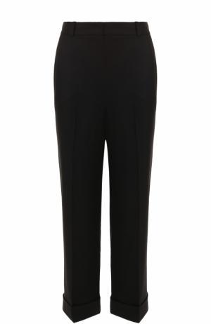 Укороченные брюки из смеси кашемира и шелка Loro Piana. Цвет: черный