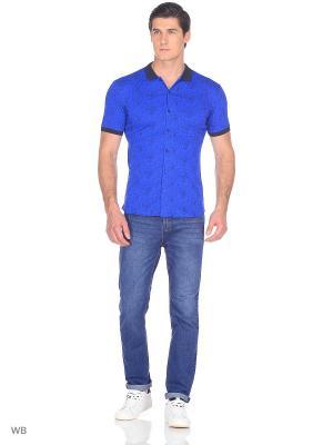 Рубашка JB casual. Цвет: индиго