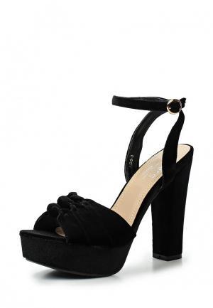 Босоножки WS Shoes. Цвет: черный