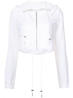 Укороченная куртка с капюшоном A.L.C.. Цвет: белый