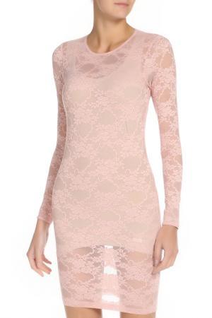 Платье гипюрное прилегающего силуэта American Apparel. Цвет: pink flower