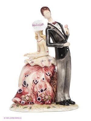 Фигурка Леди и джентельмен Pavone. Цвет: бордовый, темно-серый